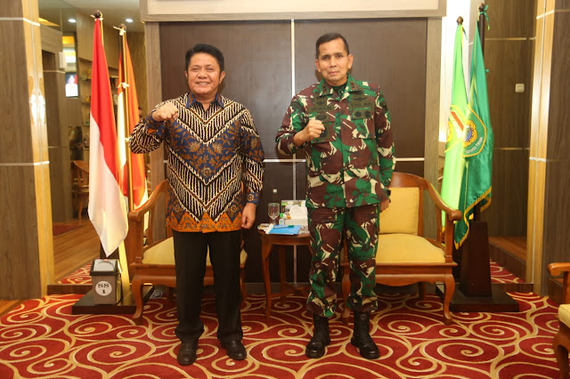 Herman Deru Lepas Pangdam Mayjen TNI  Irwan Pindah Tugas ke Mabes TNI