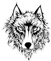 эскиз тату волка