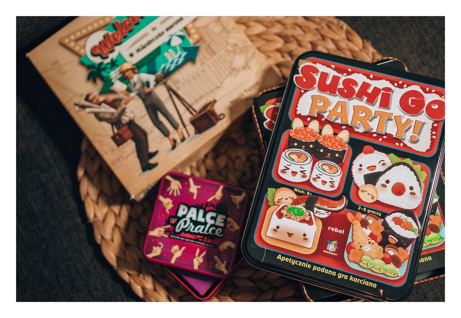 recenzja planszówek welcome to miasteczko marzeń jak grać instrukcja gry palce w pralce ocena gry imprezowe dla dużej ilości osób sushi go party jak grać fajne gry na imprezy dla rodziny i przyjaciół