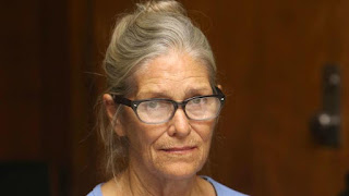 Gov. Jerry Brown has reversed a parole board's decision to free convicted killer and Manson family member Leslie Van Houten, shown here at her parole hearing in September at the California Institution for Women in Corona. (Stan Lim / Associated Press)
