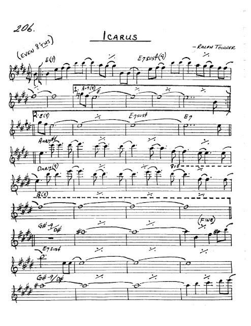 Partitura Saxofón Ralph Towner