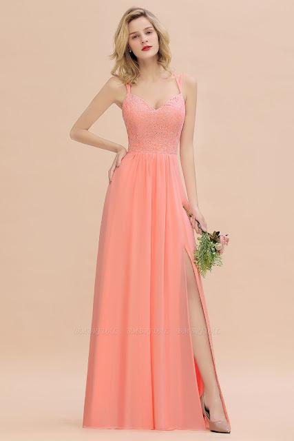Lace bridesmaid dresses.
