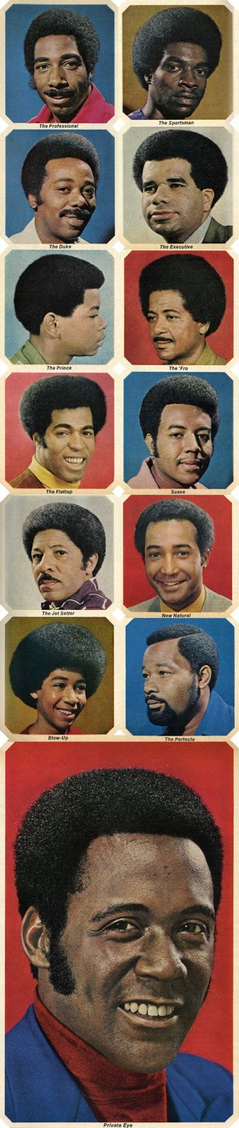 These Are Commercial Drawings Of Afro Styles In The 1970s, When This  Particular Natural Hairstyle Was At Its Peak In Terms Of Popularity.