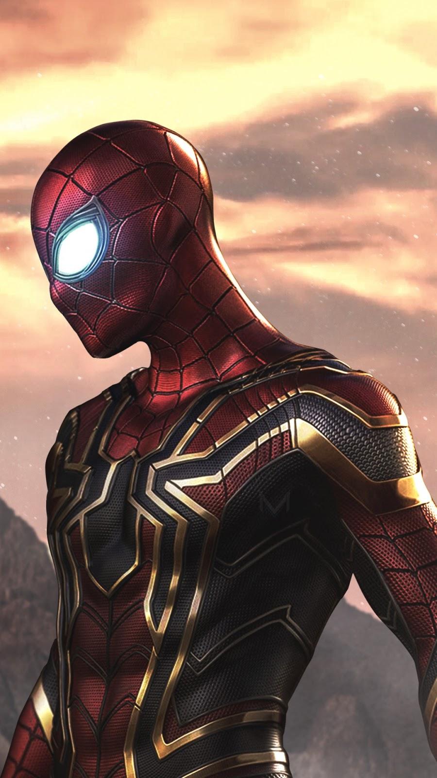 Papel de parede grátis Armadura Spider-Man Iron Spider para PC, Notebook, iPhone, Android e Tablet.