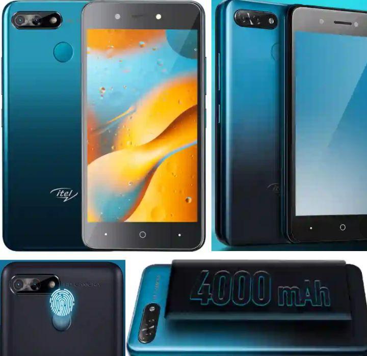 Itel P15 Smartphone - Specs: 4000mAh Battery, Android Pie, Fingerprint/Face ID, 16GB Memory, Dual SIM