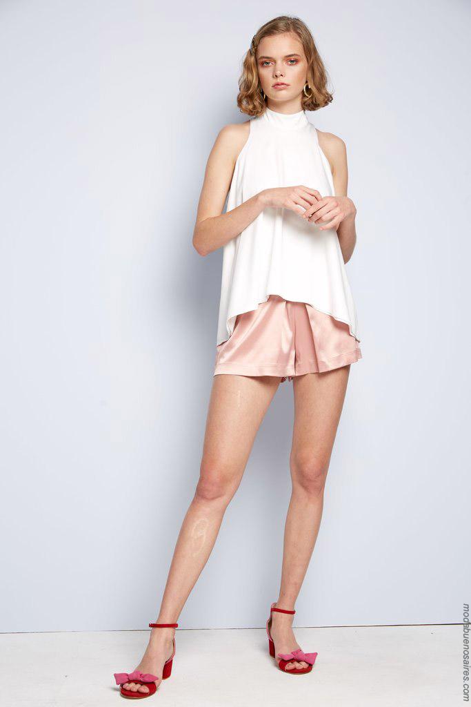 Blusas, tops y shorts de fiesta primavera verano 2020.