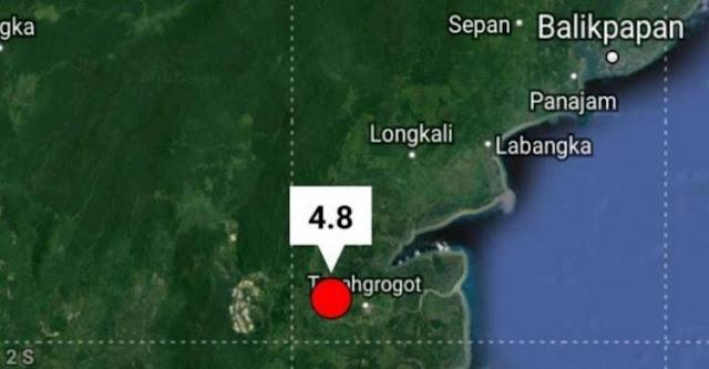 Calon Ibukota Baru, Siang Tadi Gempa 4,8 SR Guncang Kalimantan Timur