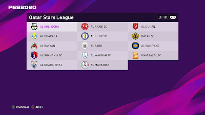 PES 2020 PS4 Option File Qatar Stars League
