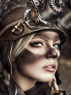 steampunk and dieselpunk makeup tutorial. Diy this dirty soot marked goggle look.