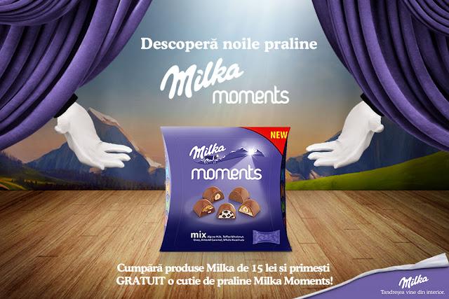 Descopera noile praline Milka Moments