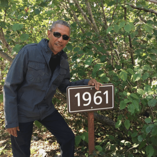 Barack Obama explodes with Bear Grylls