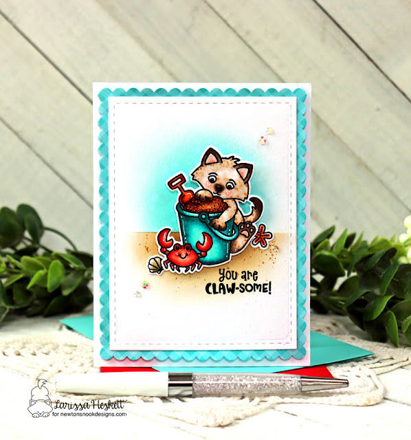 You are Claw-some Card by Larissa Heskett for Newton's Nook Designs using Kitten Beach and Frames & Flags Die Set