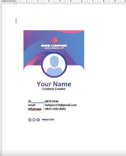 Name Tag.Docx : Download Name Tag Ungu Keren Microsoft Word