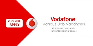 Vodafone Job Recruitment Various Vacancies Available Check the full details.