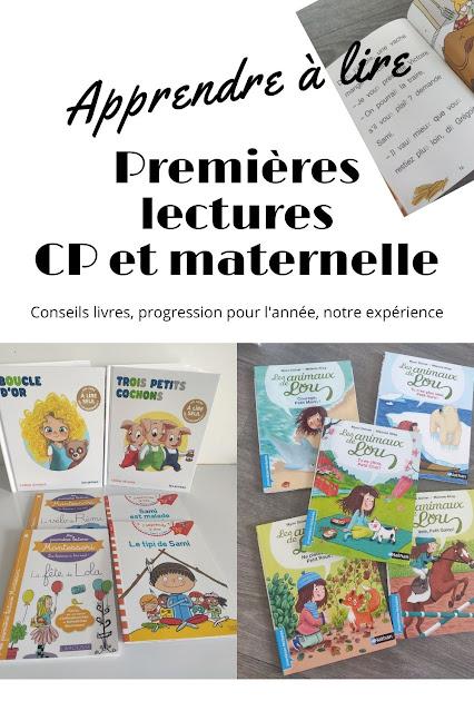 Livres premières lecture maternelle cp école à la maison
