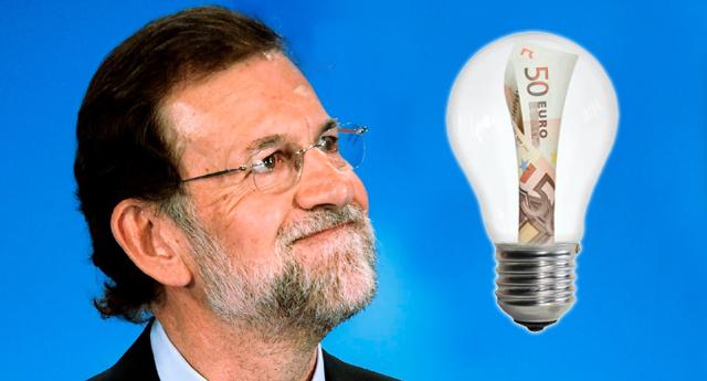 Con Rajoy el recibo de la luz sube un 8% más en octubre y van seis meses al alza