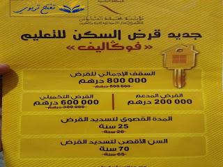 جديد قروض مؤسسة محمد السادس للنهوض بالأعمال الاجتماعية للتربية و التعليم المغرب