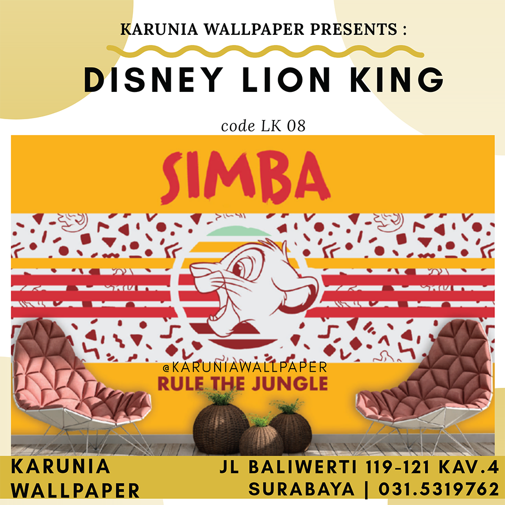 jual wallpaper dinding lion king kamar anak