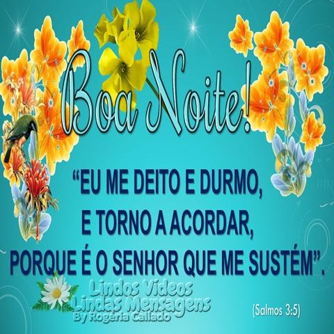 """Boa Noite!  """"EU ME DEITO E DURMO,  E TORNO A ACORDAR,  PORQUE É O SENHOR QUE ME SUSTÉM"""".  (Salmos 3:5)"""
