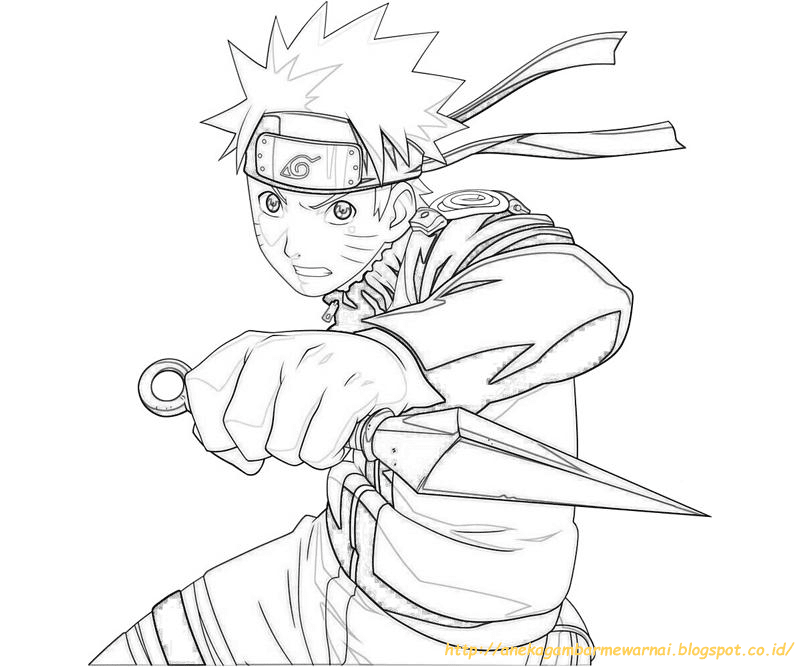 10 Gambar Mewarnai Naruto Untuk Anak Paud Dan Tk
