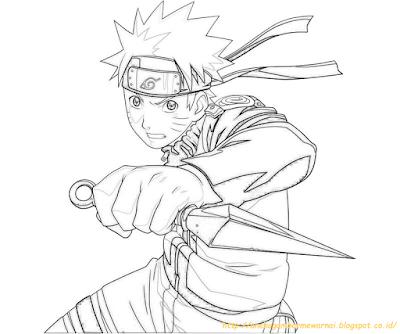 Mewarnai Gambar Naruto - 7