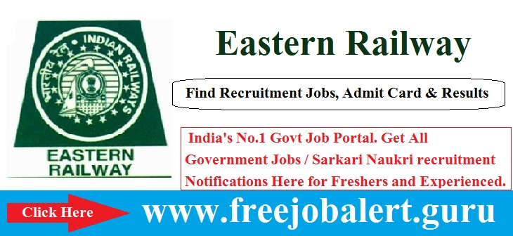 Eastern Railway, RRB Recruitment, Scouts Guides Quota, Railway, Group D, Group C,  eastern railway logo