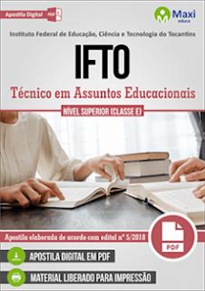 Apostila Concurso IFTO 2018 Técnico em Assuntos Educacionais