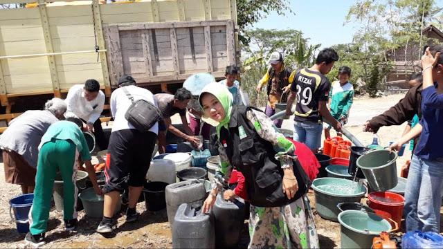 LPBINU Blitar Kirim Air Bersih di Kawasan Terdampak Kemarau