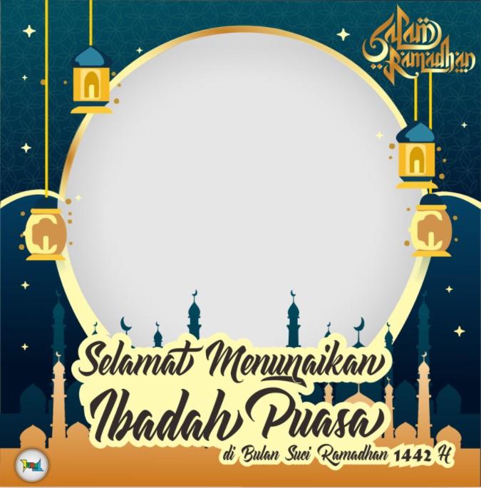 Twibbon selamat menunaikan ibadah puasa di bulan suci ramadhan 1442 h