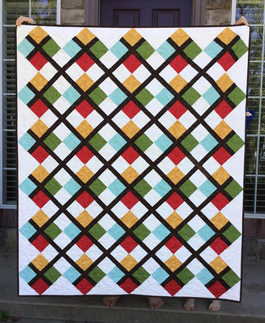 Five Fat Quarter Fun Preppy Quilt by Shannon of The Flemings Nine, The Pattern by Andy of A Bright Corner