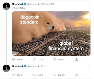 elon musk dogecoin tweeti 18 temmuz 2020