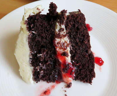 Dark Chocolate Layer Cake for Two