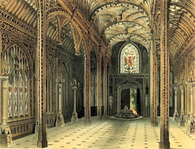 The Gothic Conservatory, Carlton House Published by Rudolph Ackermann (1811)
