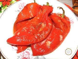 Salata de ardei copti capia reteta de casa rapida cu otet si usturoi retete culinare salate,