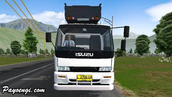 mod isuzu ftr trailer pengangkut mobil