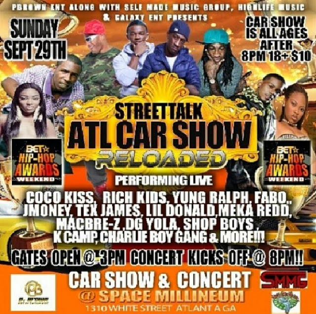 Mac Bre-Z Da Kandi Lady: Flyer: ATL Car & Bike Show 9/29/13