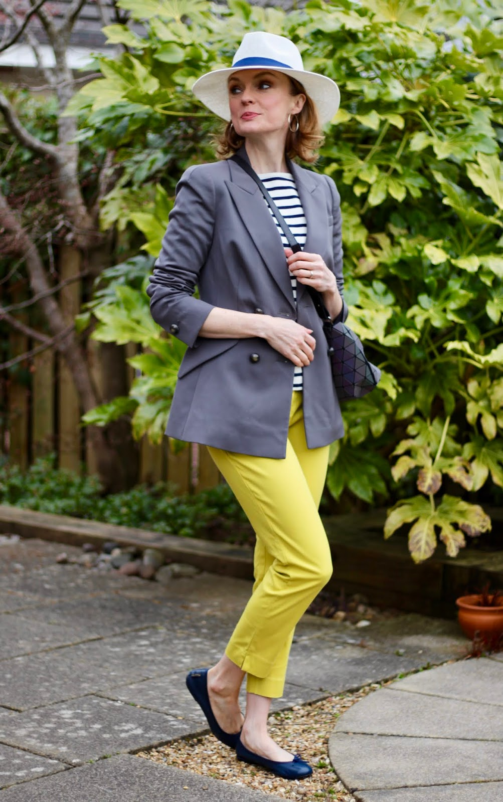 Yellow Trousers, Breton Stripes | Preppy Spring Outfit | Fake Fabulous