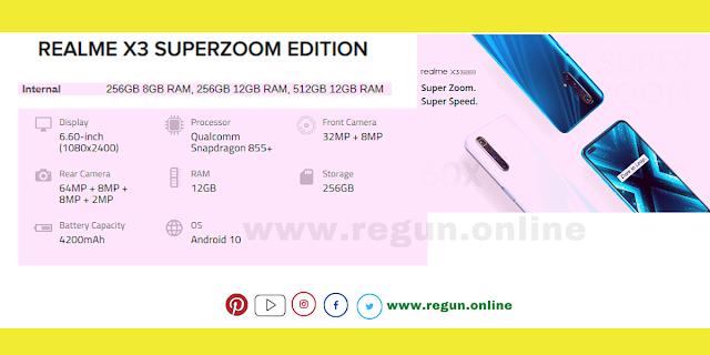 RealmeX3 Super Zoom smartphone  regun.online