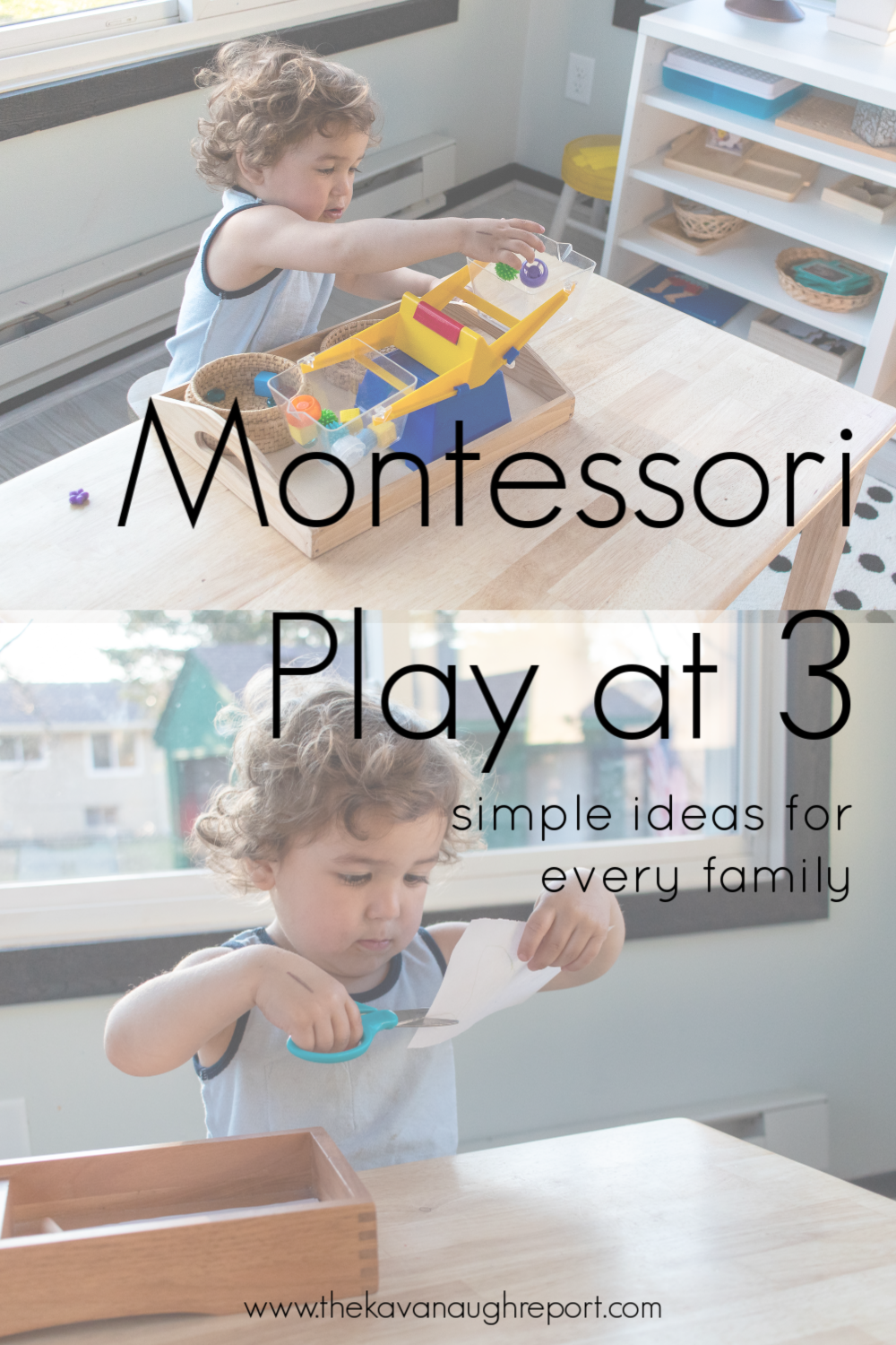 Here are some simple and easy toddler activities for your Montessori home. These fine motor and educational activities are great ways to engage your 3-year-old.