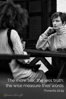 The more talk, the less truth; the wise measure their words.