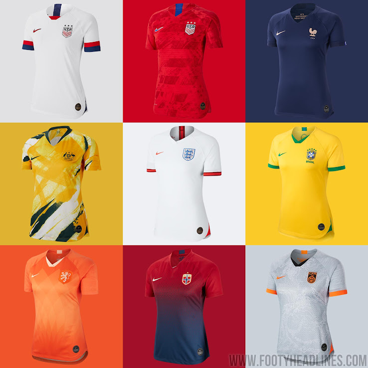 07b373834 Nike 2019 Women s World Cup Kits Released  England