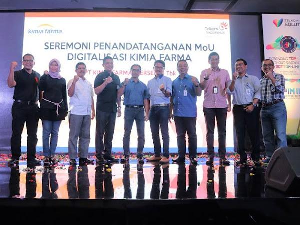Telkom Dukung Kimia Farma Jadi Perusahaan Kelas Dunia Berbasis Digital