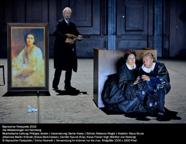 Wagner: Die Meistersinger - Johannes Martin Kränzle, Klaus Florian Vogt, Camilla Nylund - Bayreuth Festival 2019 (Photo Enrico Nawrath)