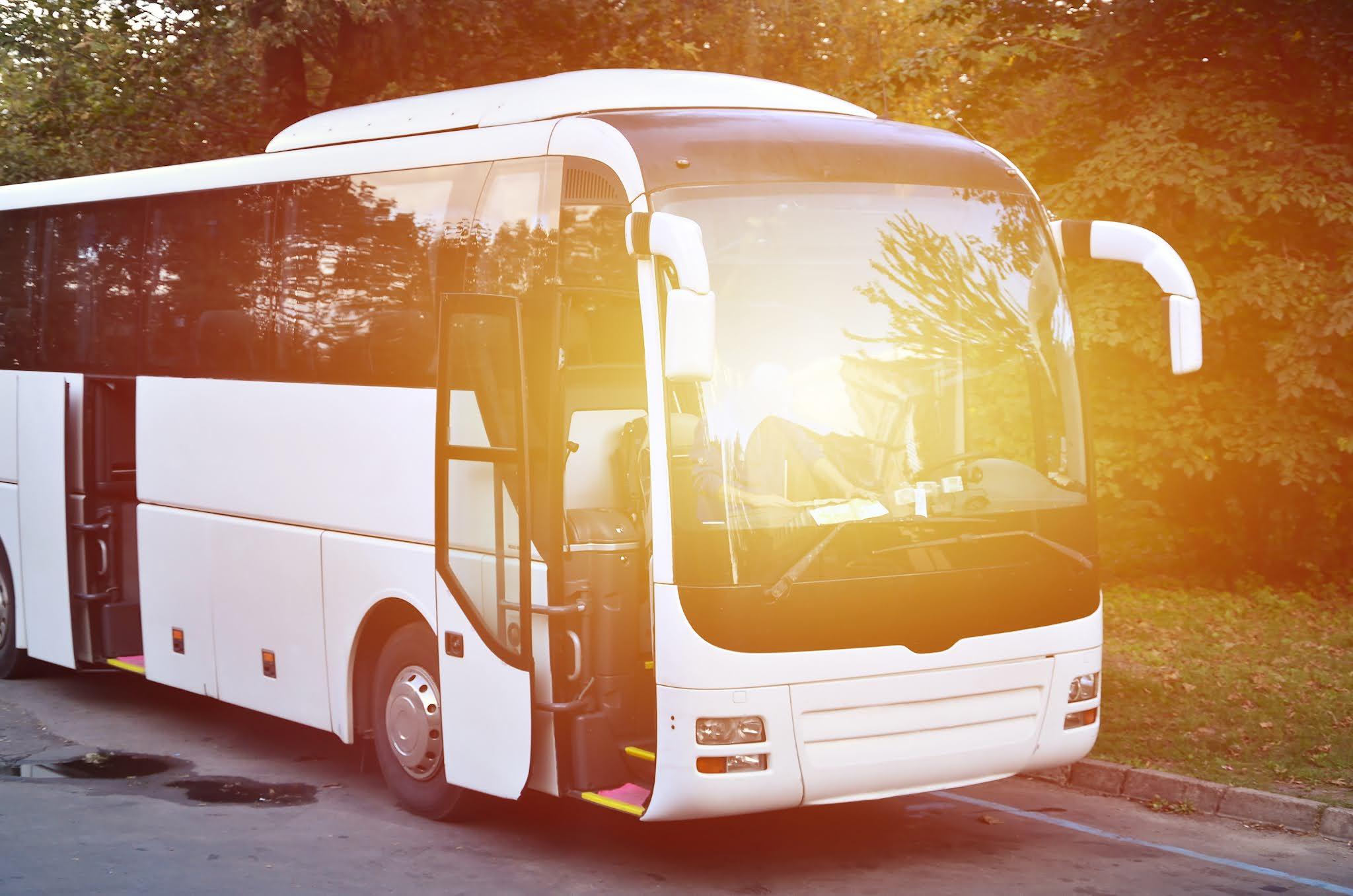 زوار إكسبو Expo دبي في انتظار خدمة حافلات المواصلات المجانية