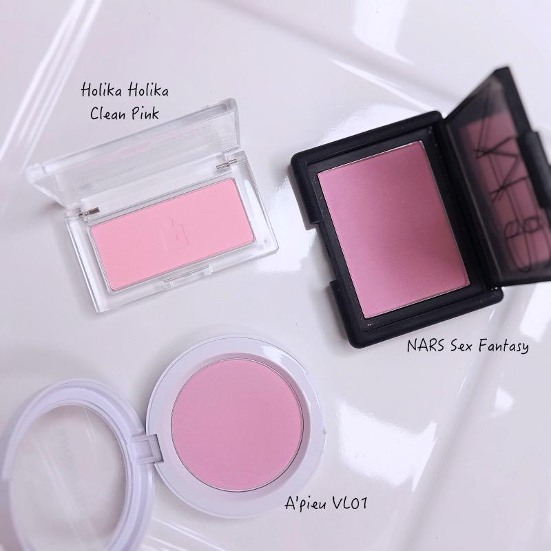 Holika Holika Piece Matching Blusher Clean Pink review swatch