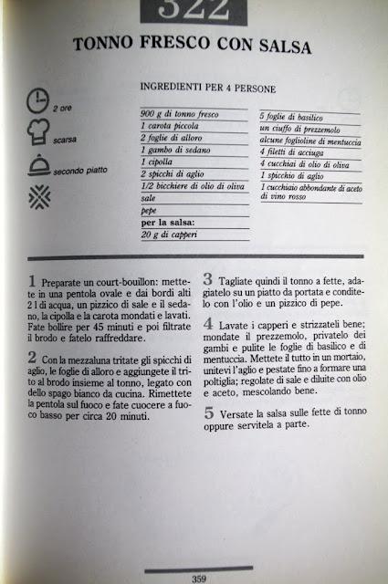 Atún fresco con salsa receta