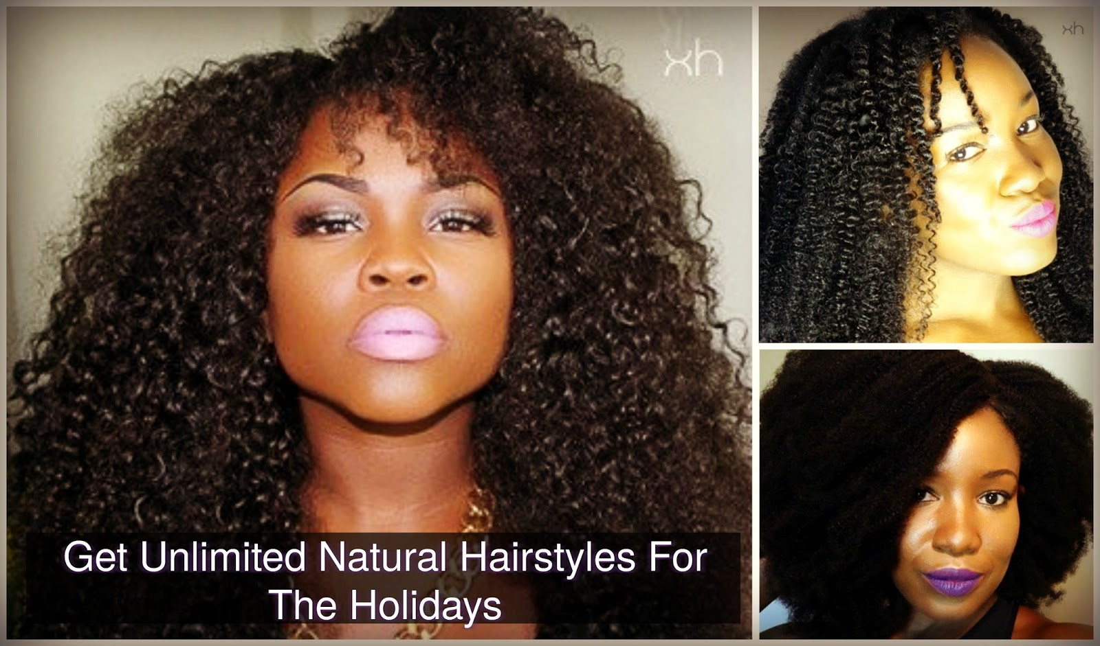 Get Unlimited Natural Hairstyles For The Holidays Xotica Hair
