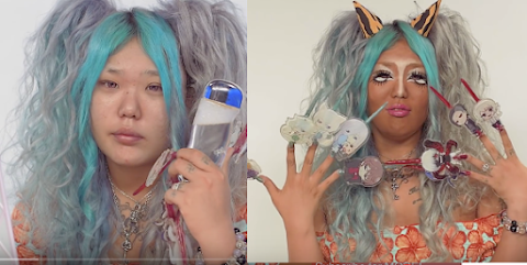 【すっぴん】 Antes y después GAL MAKE UP ♥ Before / After Post! + Invitacion a la KAWAIICON ♥