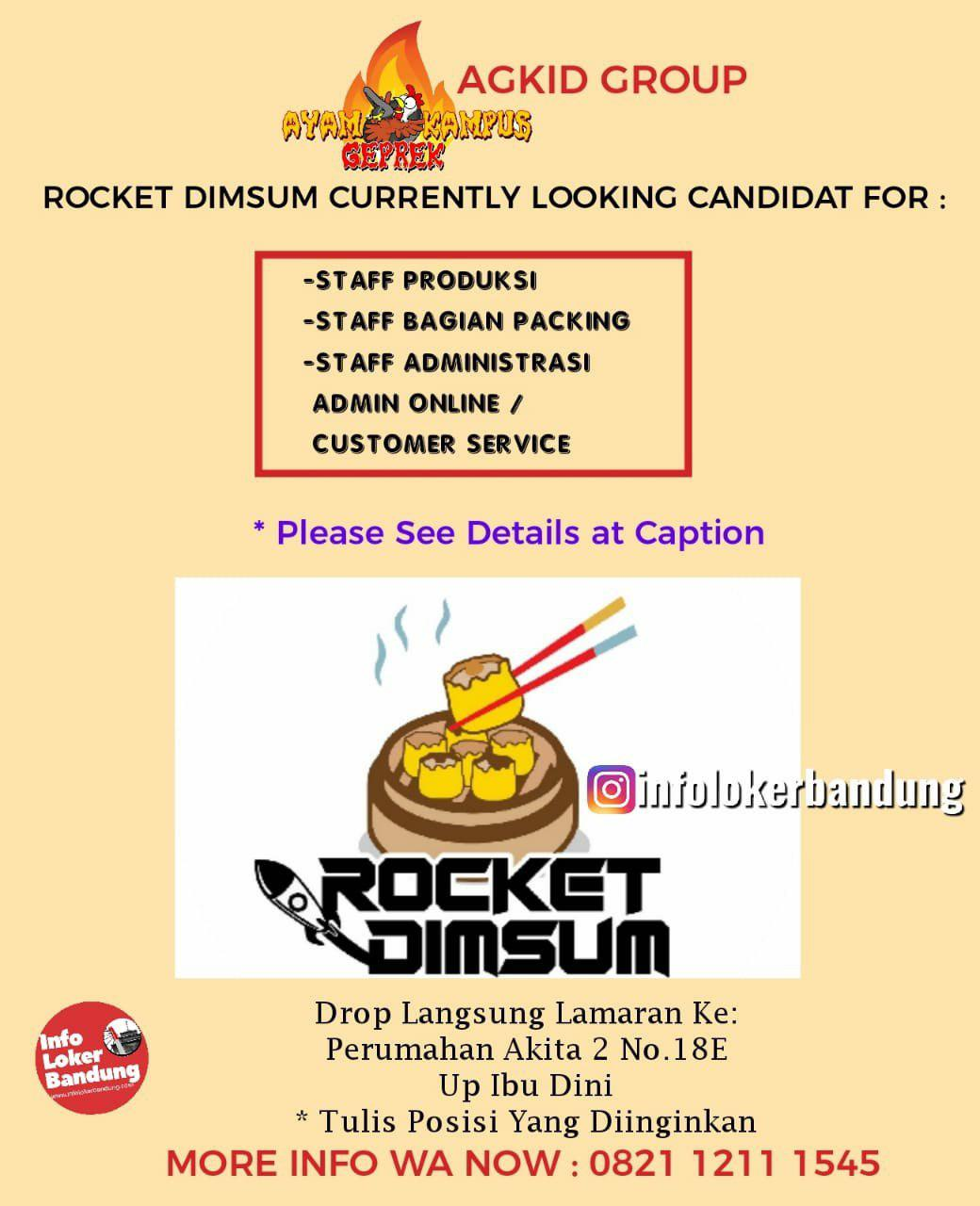 Lowongan Kerja Rocket Dimsum Bandung Mei 2019