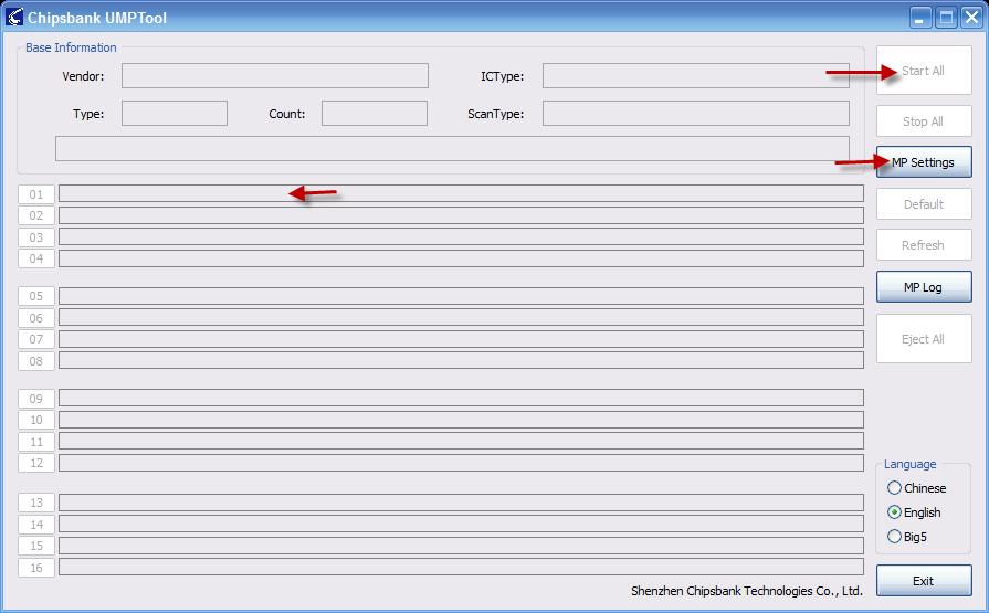 download chips bank firmware CBM209X UMPTool v5520 - Flash